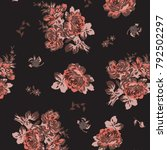 floral pattern in vector | Shutterstock .eps vector #792502297