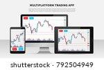 trading candlestick chart on...   Shutterstock .eps vector #792504949