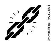 url link chain | Shutterstock .eps vector #792505015