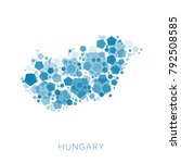 map of hungary filled with...   Shutterstock .eps vector #792508585