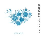 map of iceland filled with...   Shutterstock .eps vector #792508759