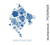 map of montenegro filled with...   Shutterstock .eps vector #792509605