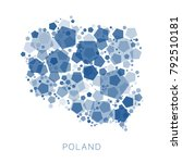 map of poland filled with...   Shutterstock .eps vector #792510181