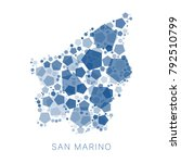 map of san marino filled with...   Shutterstock .eps vector #792510799