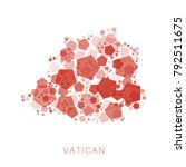 map of vatican filled with...   Shutterstock .eps vector #792511675