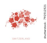 map of switzerland filled with...   Shutterstock .eps vector #792512521