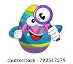 painted mascot easter egg... | Shutterstock .eps vector #792517279