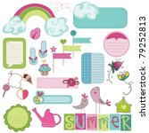 summer design elements for... | Shutterstock .eps vector #79252813