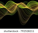 trendy vector abstract flowing... | Shutterstock .eps vector #792528211
