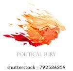 political fury. vector portrait ... | Shutterstock .eps vector #792536359