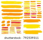 collection of hand drawn golden ... | Shutterstock .eps vector #792539311