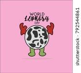 world leprosy day. leprosy... | Shutterstock .eps vector #792544861