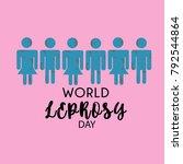 world leprosy day. leprosy...   Shutterstock .eps vector #792544864