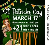 st. patrick's day party... | Shutterstock .eps vector #792545479