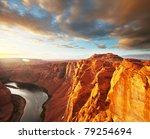 Colorado river in Arizona - stock photo