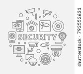 security vector round concept... | Shutterstock .eps vector #792552631