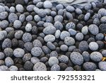 rounded textured stones. pebble.... | Shutterstock . vector #792553321