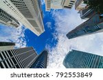 skyscrapers looking up at the... | Shutterstock . vector #792553849