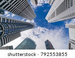 skyscrapers looking up at the... | Shutterstock . vector #792553855