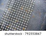 metal tactile paving tiles for... | Shutterstock . vector #792553867