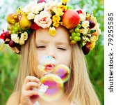 Happy Child In Summer. ...