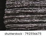 a stack of striped fabric.... | Shutterstock . vector #792556675
