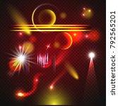 set of transparent lens flares... | Shutterstock .eps vector #792565201