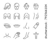 beauty salon body parts line... | Shutterstock .eps vector #792566104