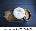 a cappuccino italian plural...   Shutterstock . vector #792569671