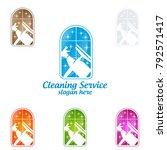 house cleaning vector logo... | Shutterstock .eps vector #792571417