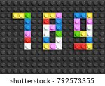 Colorful Lego Numbers 7 8 9...