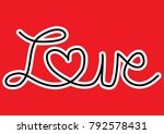 valentine's day sticker | Shutterstock .eps vector #792578431