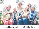 group of senior people bonding... | Shutterstock . vector #792589495