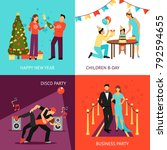 party design concept set with... | Shutterstock . vector #792594655