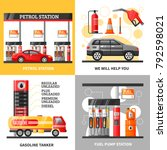 gas and petrol station 2x2... | Shutterstock . vector #792598021