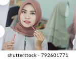 portrait of beautiful asian... | Shutterstock . vector #792601771