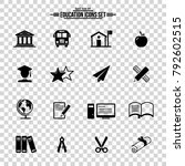 education vector icons  | Shutterstock .eps vector #792602515