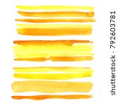 yellow. watercolor stains on... | Shutterstock . vector #792603781