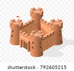 isometric high quality medieval ... | Shutterstock .eps vector #792605215