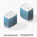 isometric high quality city... | Shutterstock .eps vector #792605959
