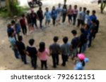 blur activity camp employee... | Shutterstock . vector #792612151
