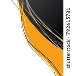flyer or brochure template ... | Shutterstock .eps vector #792615781