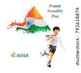 illustration of india republic... | Shutterstock . vector #792618874