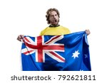 australian male athlete   fan... | Shutterstock . vector #792621811