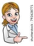 a cartoon scientist professor...   Shutterstock .eps vector #792628771