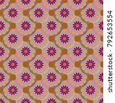 new color seamless pattern with ... | Shutterstock .eps vector #792653554