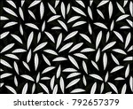 abstract leaves background... | Shutterstock .eps vector #792657379