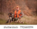 hunters with dogs hunting a... | Shutterstock . vector #792660394