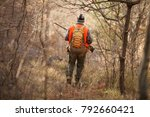 hunters with dogs hunting a... | Shutterstock . vector #792660421