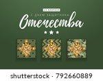 vector 23 february greeting... | Shutterstock .eps vector #792660889